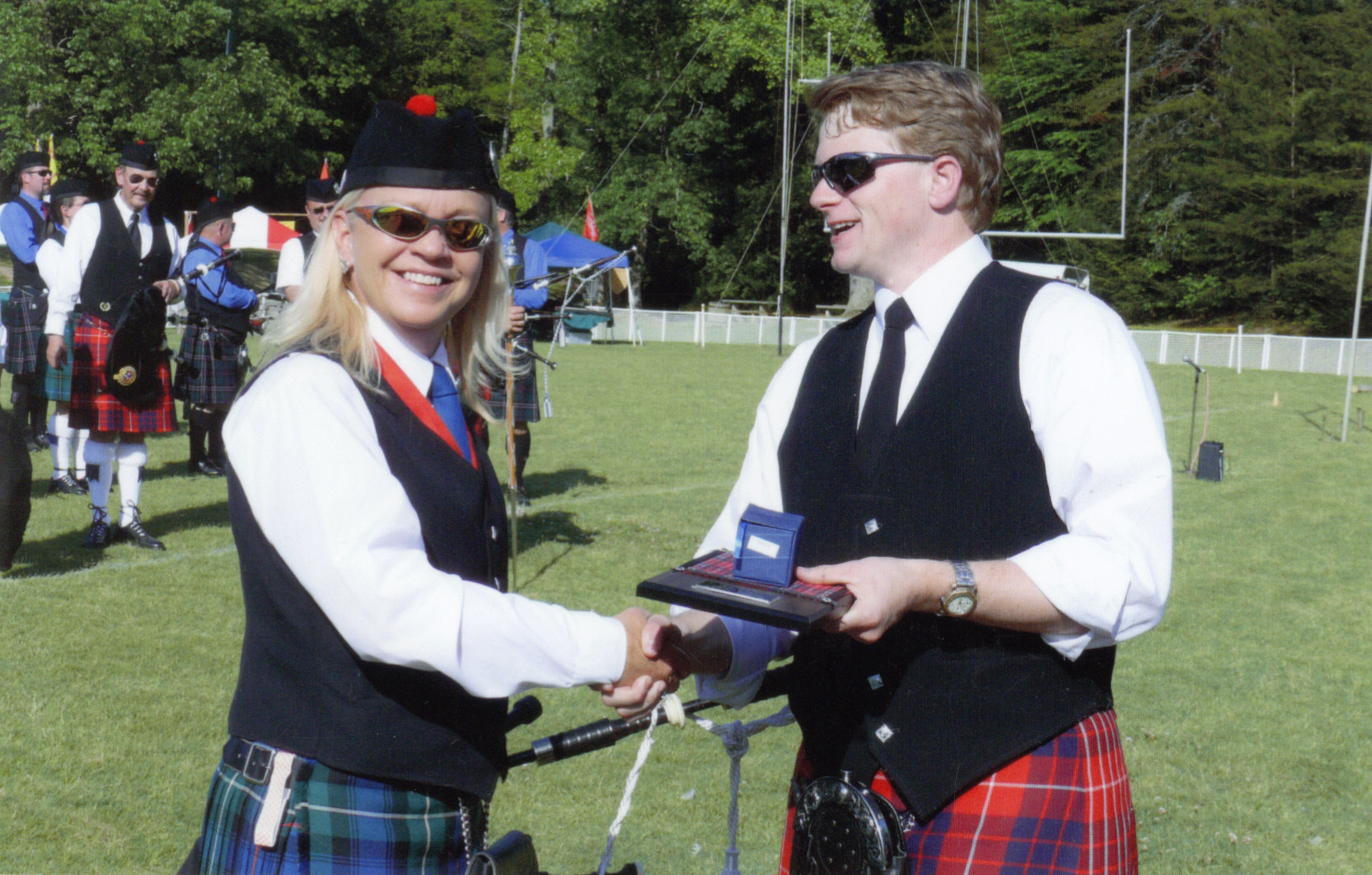 Kelly is awarded Grade 4 Piper of the Day in Gatlinburg, TN Highland Games