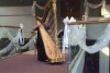 Playing Gold  23 Lyon-Healy harp Wedding at Wallace Memorial Baptist Church Knoxville, TN